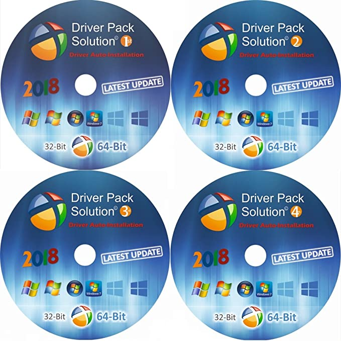 Driver Pack Solution [4 DVD]- 2018 Install for ASUS Laptops