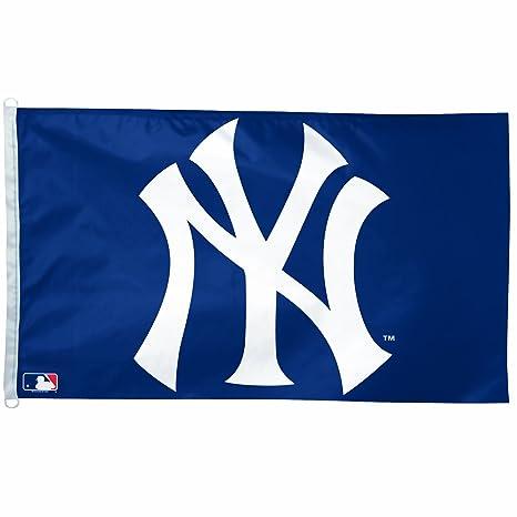 amazon com mlb new york yankees 3 by 5 foot ny logo flag outdoor rh amazon com new york yankees font free download new york yankees script logo font