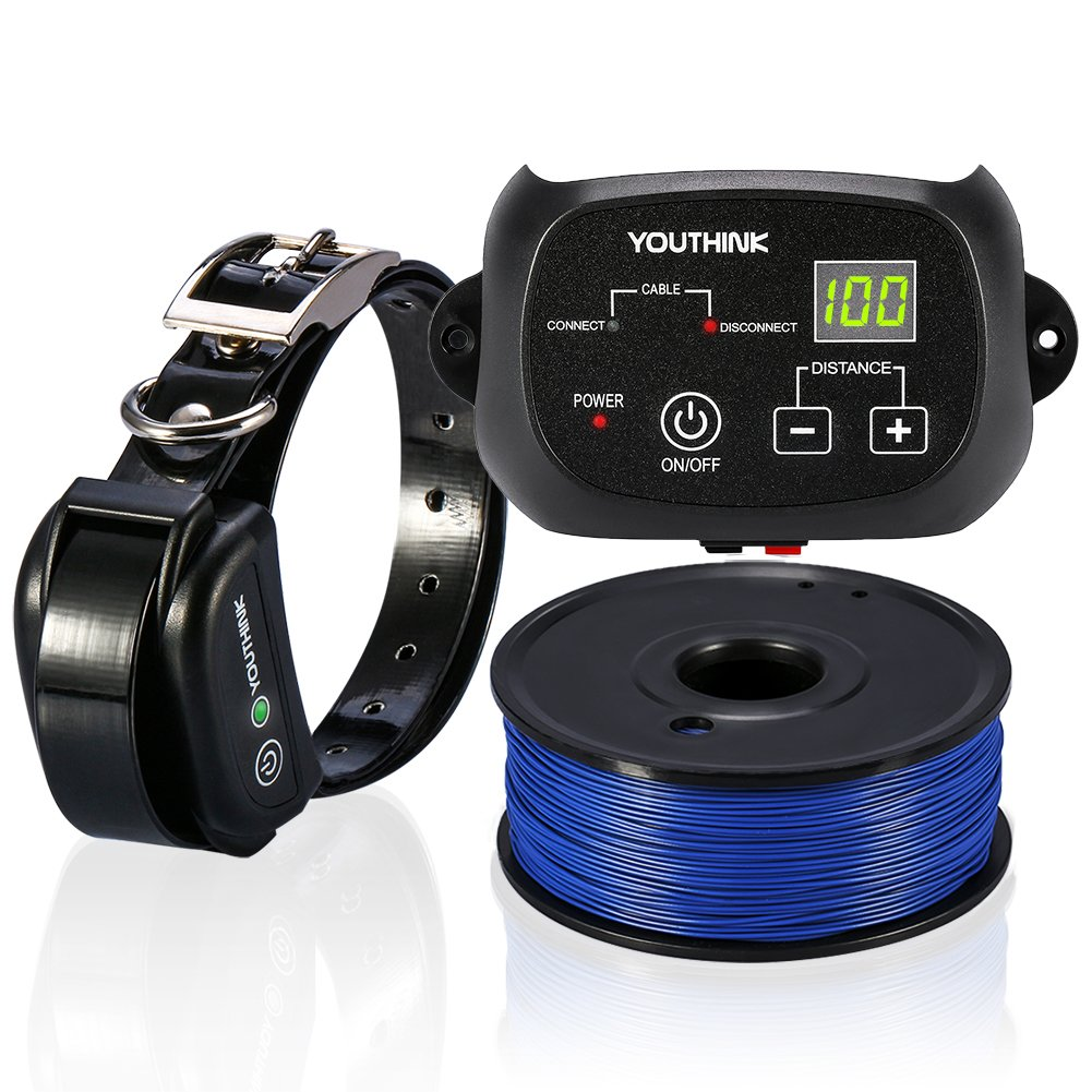 Dog Training Collar YOUTHINK Waterproof & Rechargeable Remote Dog Shock Collar for All Sizes Dogs (Not Included Control Transmitter)
