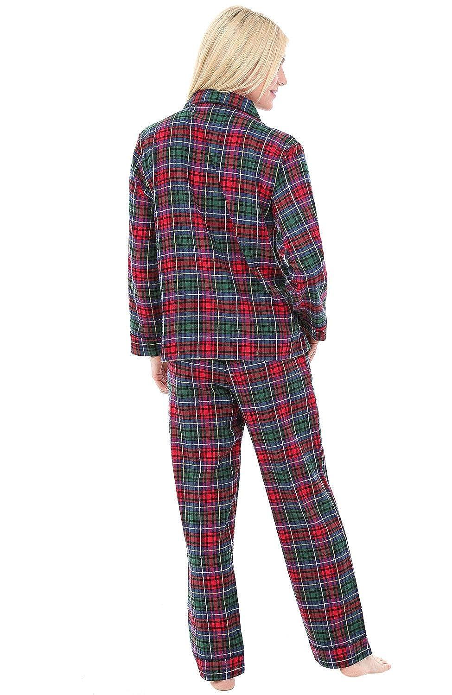 5904f1a83a Alexander Del Rossa Womens Plaid Flannel Pajamas