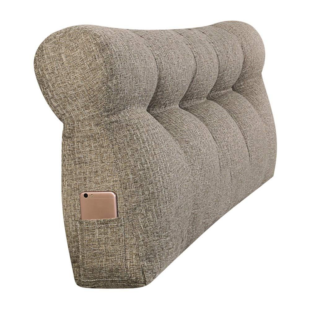 WENZHE Upholstered Headboard Bedside Cushion Wedges Backrest Waist Pad Cover Bed Wedges Backrest Waist Pad Cloth Soft Case Home Triangle Waist Belt Backrest Washable, 6 Colors