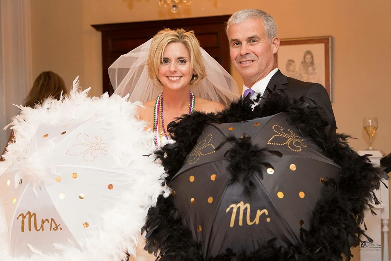Wedding Second Line Parasol Umbrellas Handmade In New Orleans Black