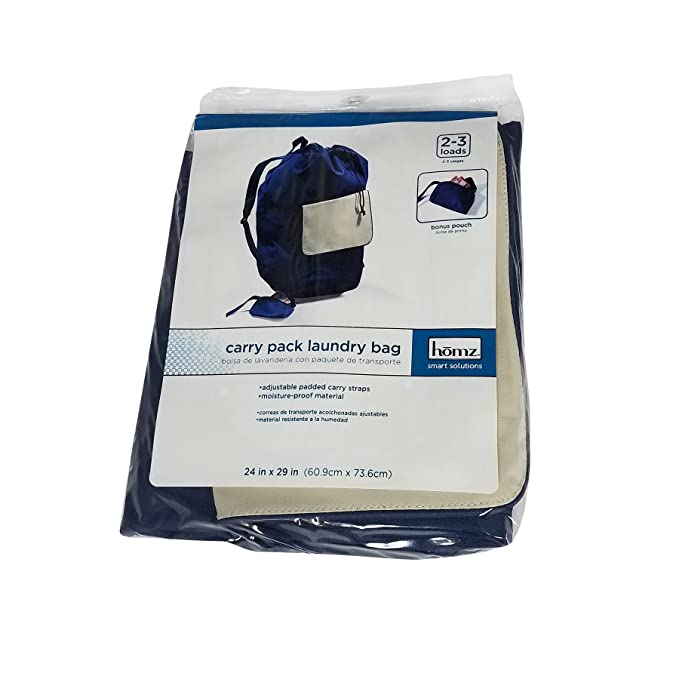 Amazon.com: HOMZ Laundry Carry Pack, Blue, 3 Load Capacity: Home & Kitchen