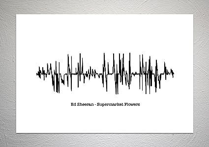Ed Sheeran - Supermarket Flowers - Sound Wave Song Art Print