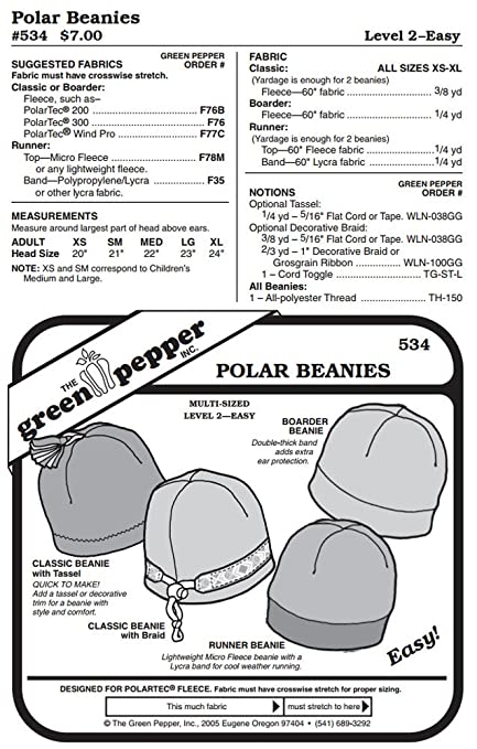 Amazon.com  Fleece Polar Beanies Winter Hats Headwear  534 Sewing ... 091065f5128