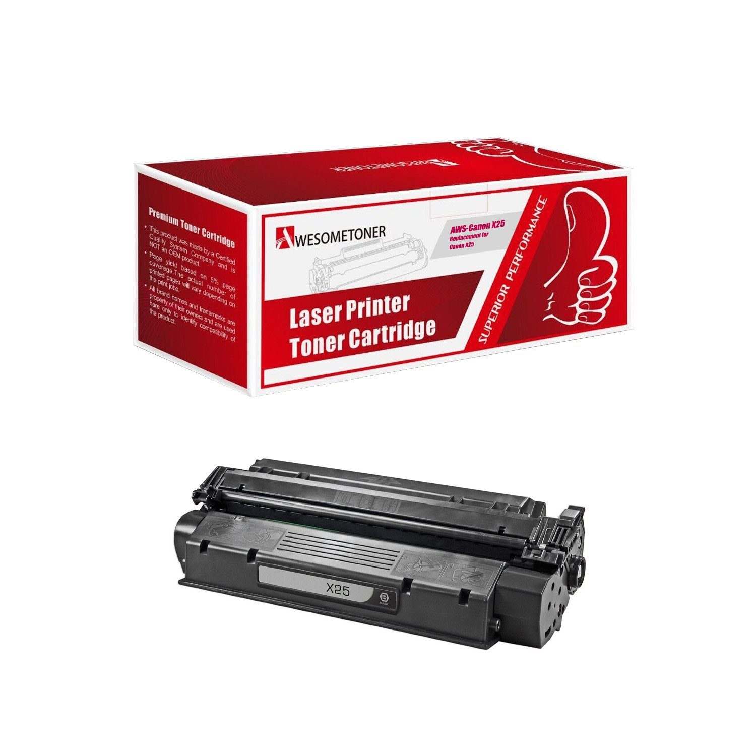 Amazon.com: Awesometoner Canon X25 Compatible Toner Replacement: Office  Products