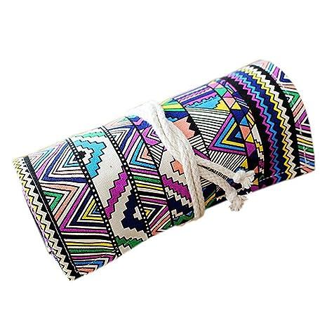 NUOLUX 48 ranuras Roll Up estuche lavable étnicos estilo ...