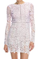 Celebritystyle floral lilac watercolor crochet lace dress see measurements