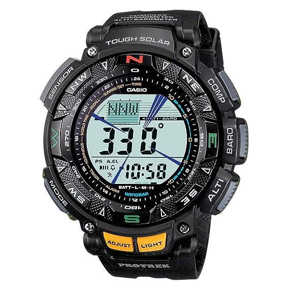 Casio De los hombres Pro Trek Digital Deporte Solar Reloj (Modelo de Asia) PRG-240-1D: Amazon.es: Relojes