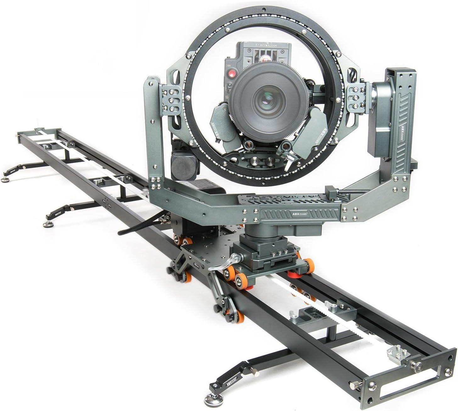 asxmov-g6 360 rotación cabeza extensible cámara Slider Dolly pista ...