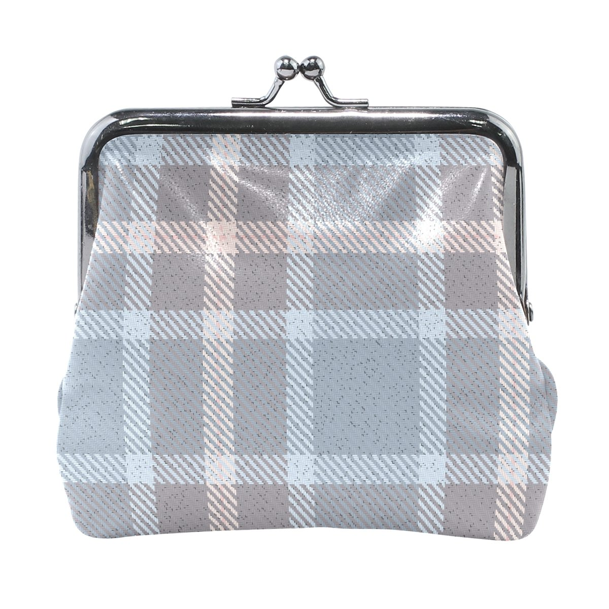 Coin Purse Striped Warm Plaid Wallet Buckle Clutch Handbag For Women Girls Gift