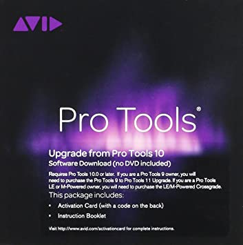 Avid 99206517100 Pro Tools 10 To 11 Upgrade Teacher Activation Card