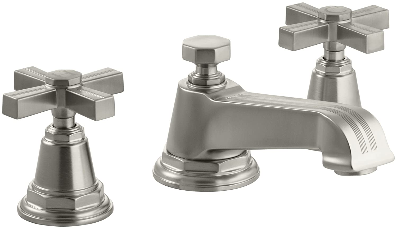 KOHLER K-13132-3B-CP Pinstripe Widespread Lavatory Faucet, Polished ...