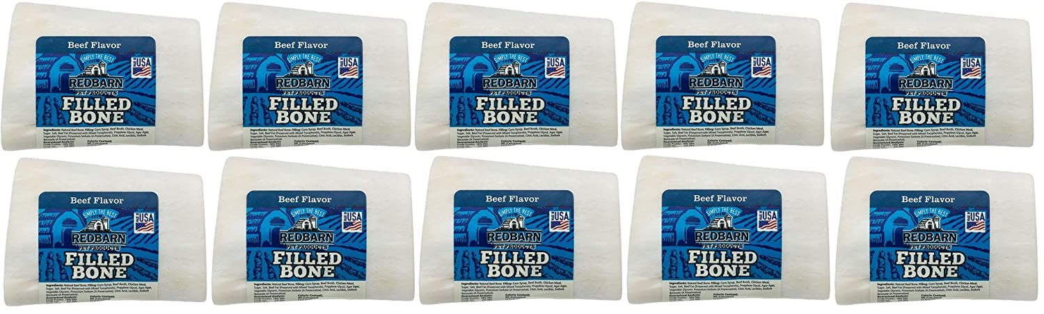(10 Pack) Red Barn Small Beef Filled Bones