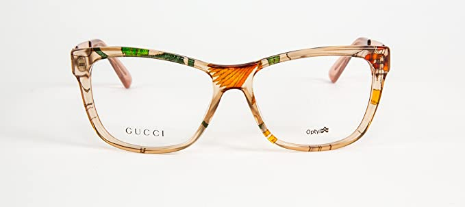 7688cb8f21 Amazon.com  GUCCI GG3741 GG 3741 2FX Acetate Beige Rose Eyeglasses Frame  Eyewear 52-15-140  2  Clothing
