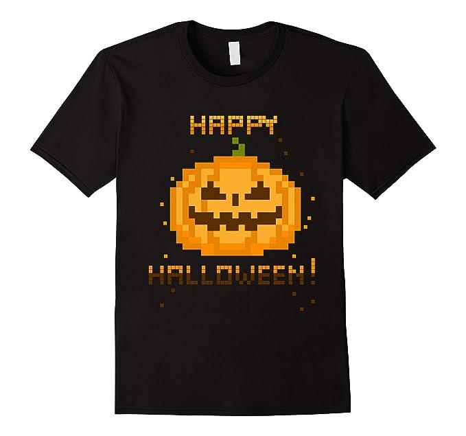 Video Gamer Pixel Jack-O-Lantern Halloween Costume T-Shirt on Amazon.