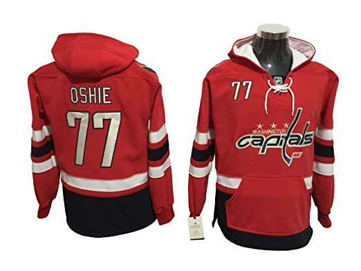 newest 843f8 eff34 Amazon.com: T. J. Oshie Capitals Hockey Hoodie Jersey: Clothing