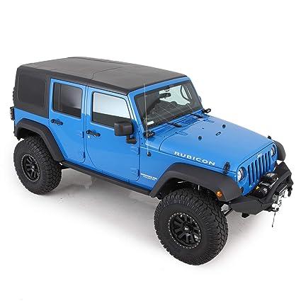 Jeep Hard Tops >> Smittybilt 518701 Black Hard Top For Jeep Jk 4 Door 2 Piece