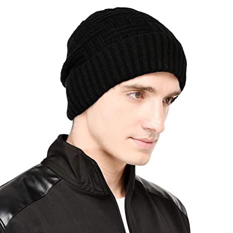 634ab382d58 VR Designers Men s Woolen Self Design Winter Beanie Cap (vrcp-130818-028