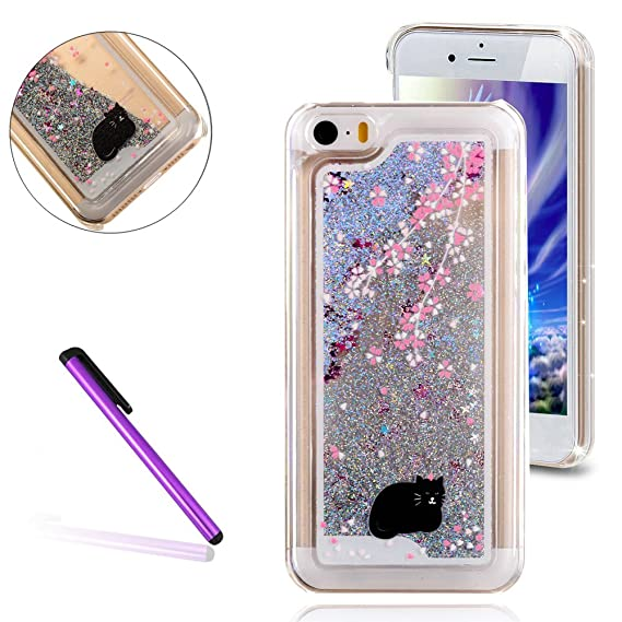 separation shoes 12208 2294e iPhone 5C Case,3D Liquid Brilliant Luxury Bling Glitter Liquid Floating  Angle Girl Moving Hard Protective Cover for Apple iPhone 5C + Send Stylus  Pen ...