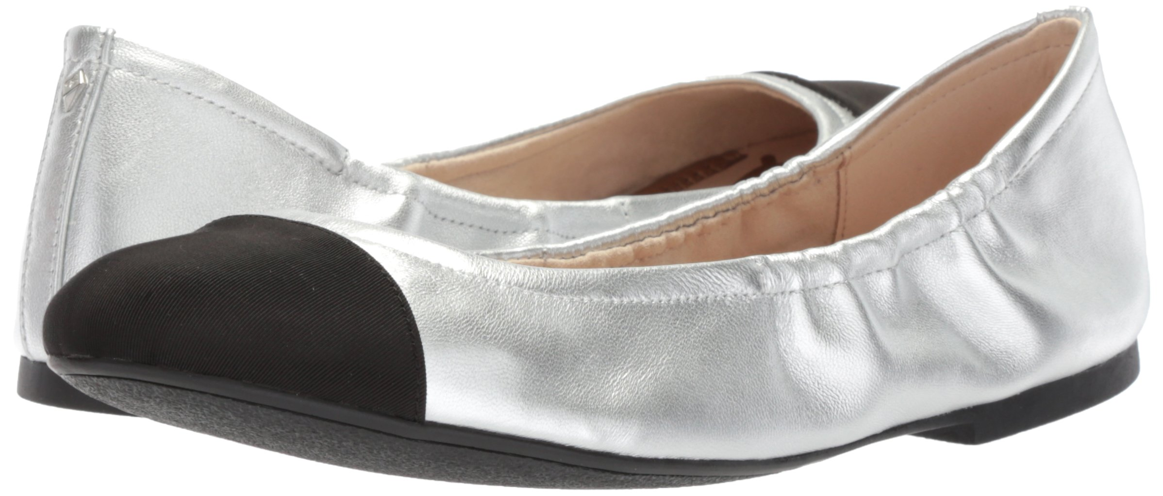 Sam Edelman Women's fraley Ballet Flat, Soft Silver/Black, 7 Medium US by Sam Edelman (Image #6)