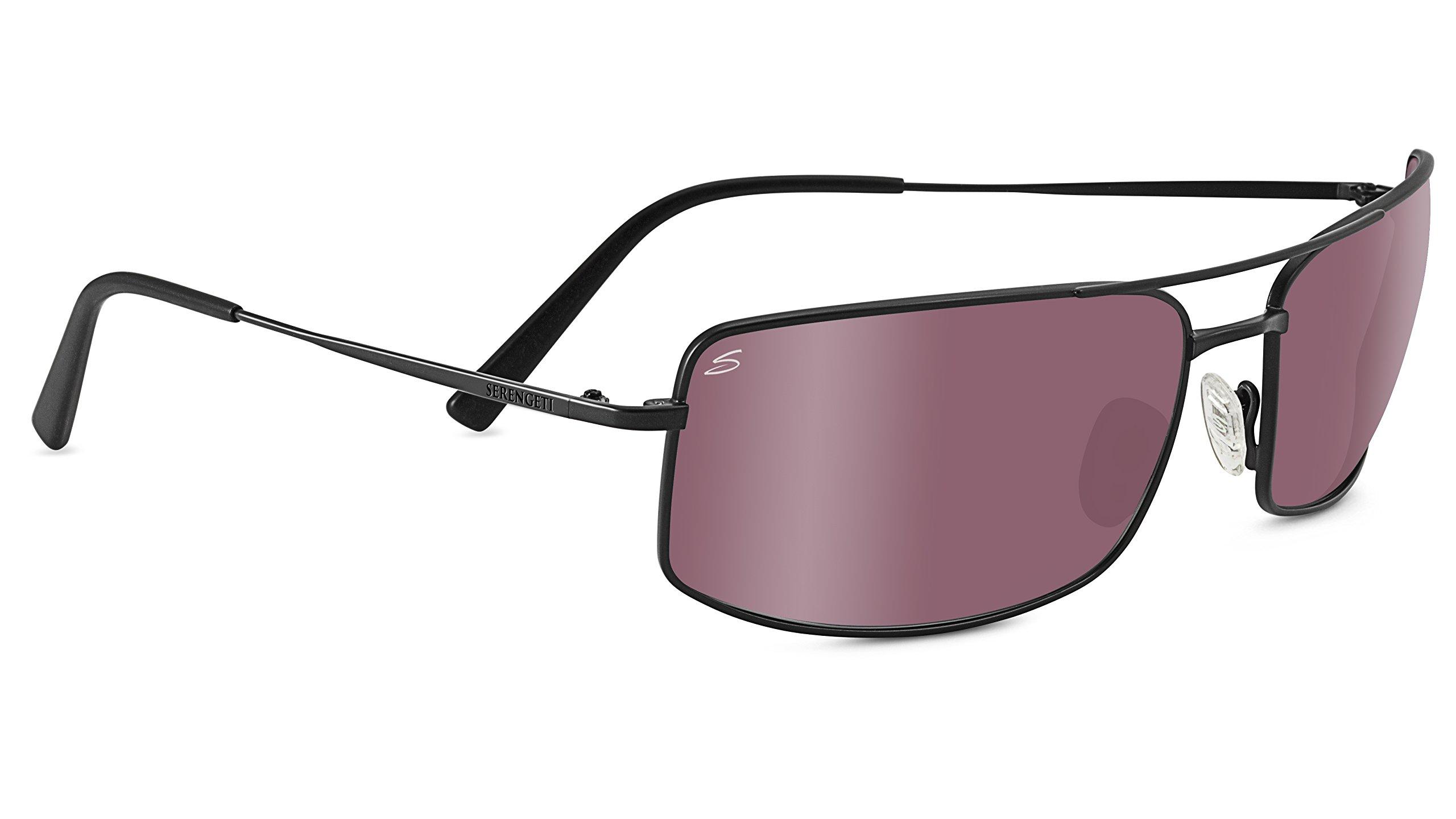 Serengeti 8440 Treviso Polarized Sedona Bi Mirror Sunglasses, Satin Black by Serengeti