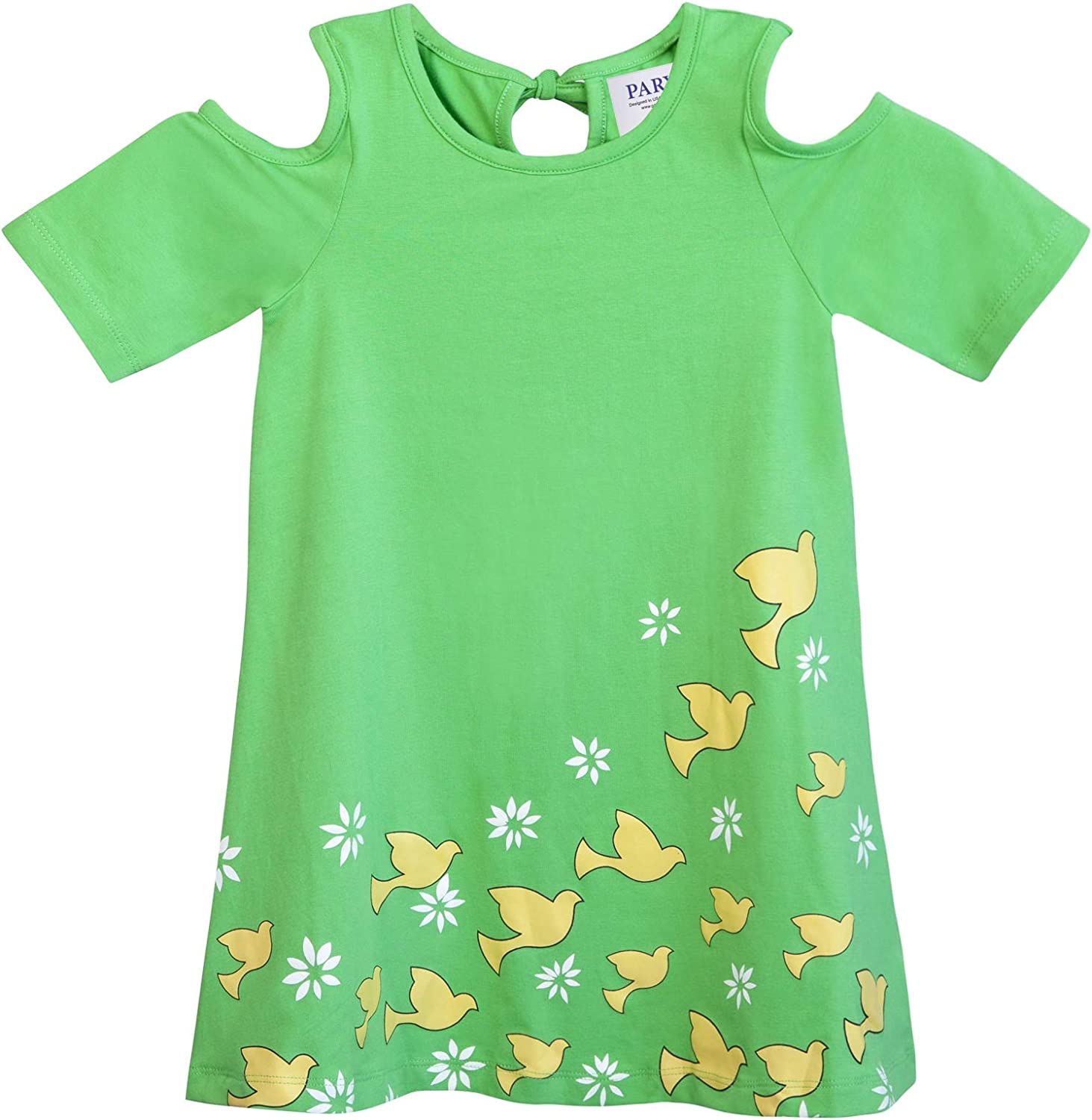 Parya Doves and Floral Design Casual and Party Dress Girls