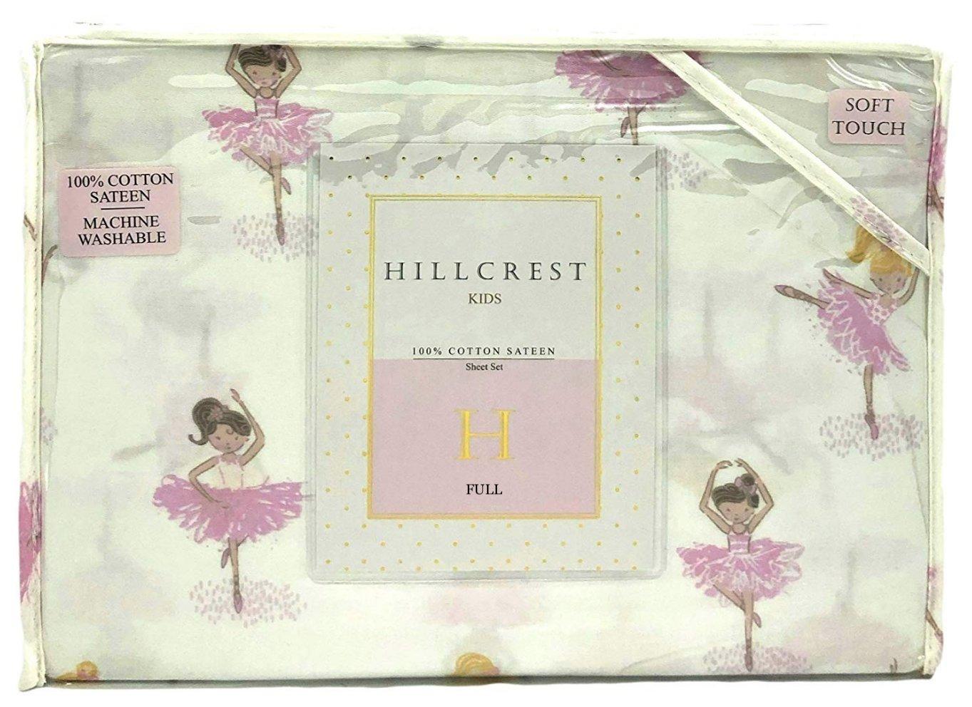 Hillcrest Kids Dancing Ballerinas Full Size Cotton Sheet Set (Full)