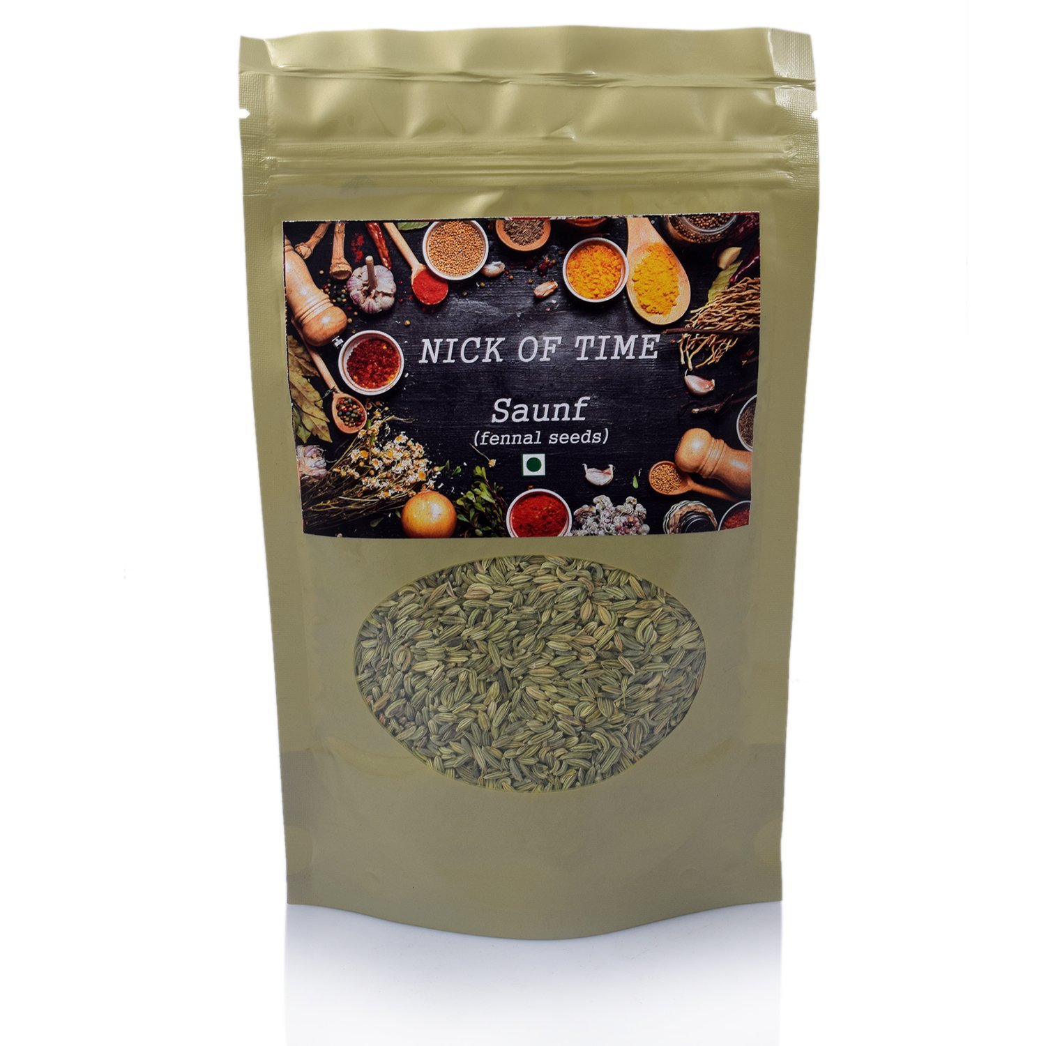 Nick of Time - Saunf (Fennel Seeds) sourced from Rajasthan, India (250gm/8.8oz)