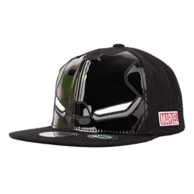 afbd3cc8b6c Marvel Avengers Iron Man Helmet Glossy Snapback Hat Cap KR2970  (Acrylicblack)