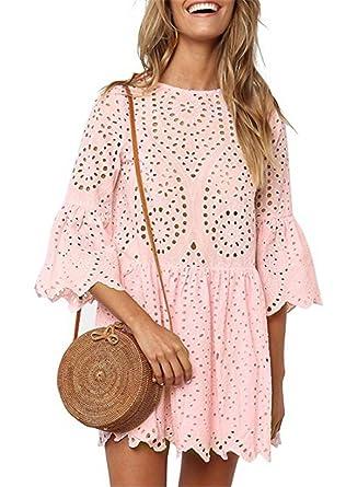 buy popular 97f9d 4cf98 IWFREE Damen Kleider Kurz Sommer Elegant Party kleid ...