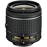 Nikon DX Nikkor 18-55 mm f/3.5-5.6G VR AF-P Lens for Camera (Black)