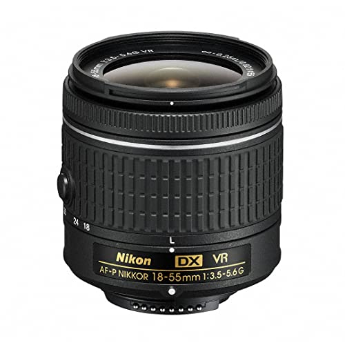 Nikon 18-55 mm f/3.5-5.6G VR AF-P DX Nikkor Lens for Camera