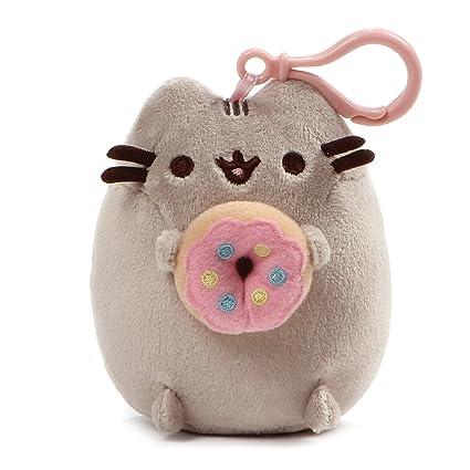 GUND Pusheen Snackable Donut Stuffed Plush Backpack Clip, 5u0027