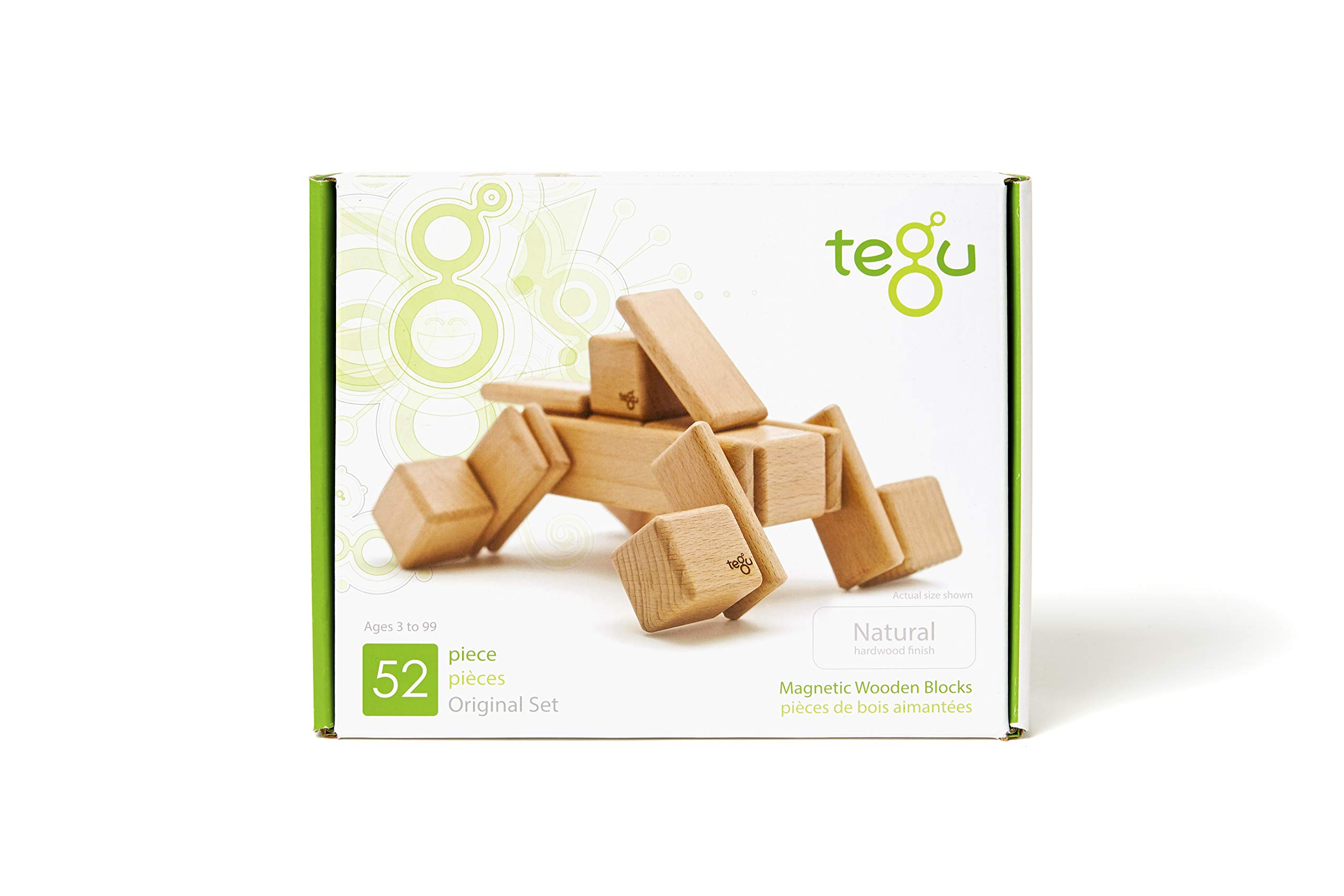 52 Piece Tegu Original Magnetic Wooden Block