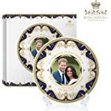 Royal Heritage H.R.H Harry and Meghan Markle Wedding Commemorative Plate, Fine China, Multi-Colour, 15 x 15 x 2 cm