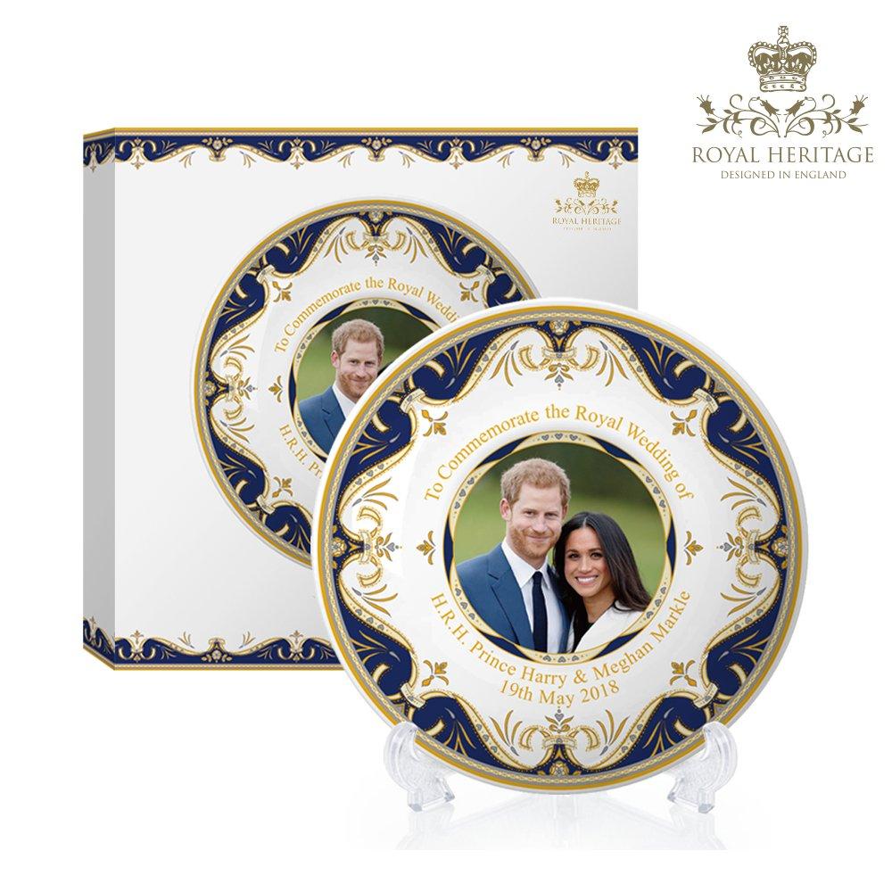 Royal Heritage h.r.h Harry e Megan Markle wedding commemorative piastra, porcellana, multicolore, 15x 15x 2cm Lesser & Pavey Ltd LP18076