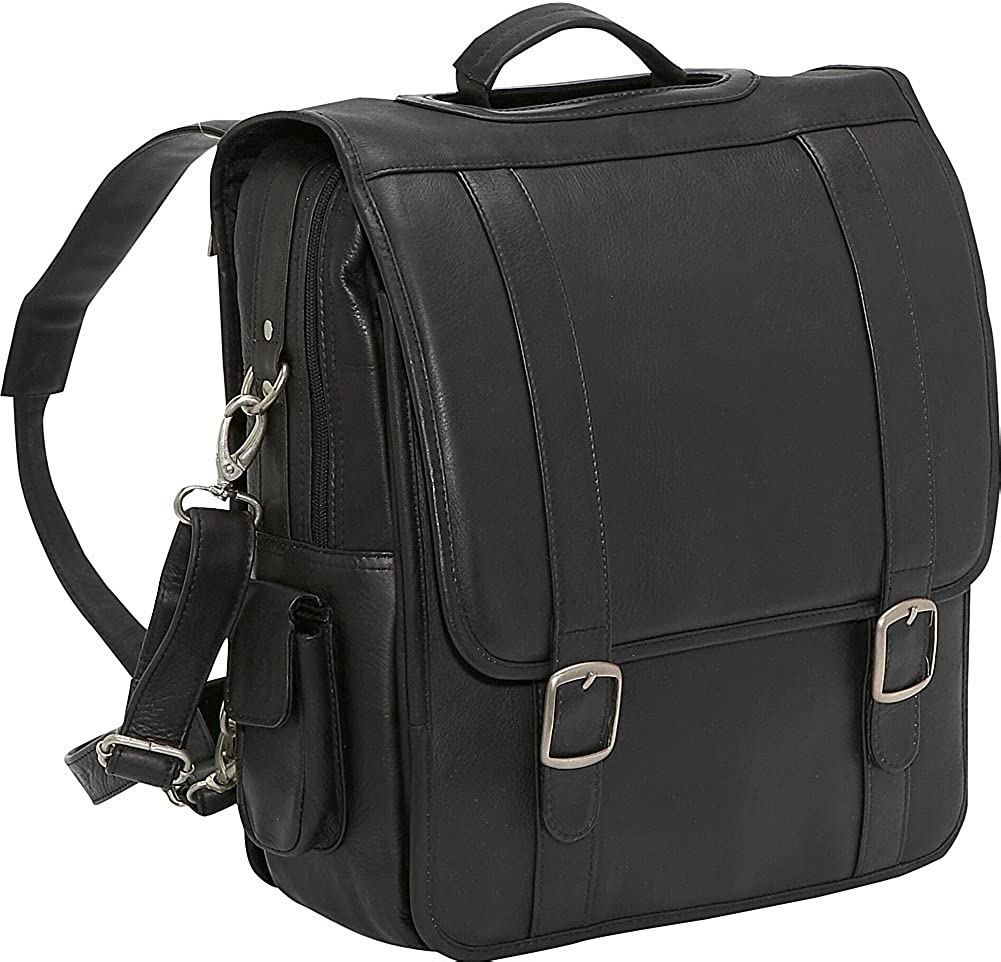 Le Donne Leather Convertible Backpack Laptop Brief