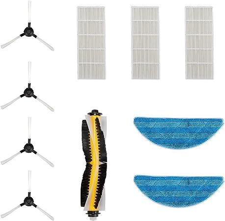 Aspiradora robot, bagotte 3 en 1 – Robot de aspiración con función limpiadora y cepillos, carga Incluso