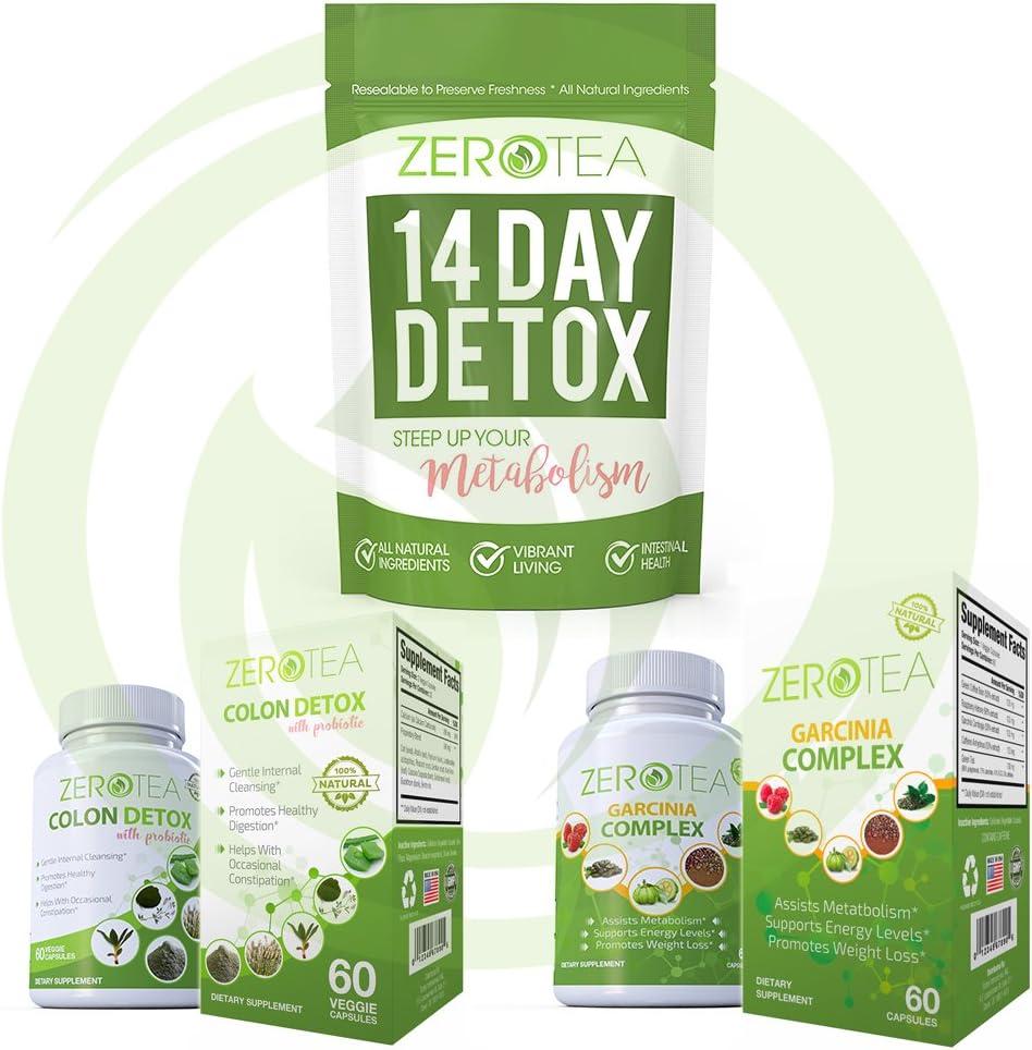 Zero Tea 14 Day Detox Tea, Weight Loss Tea, Teatox Herbal Tea for Cleanse