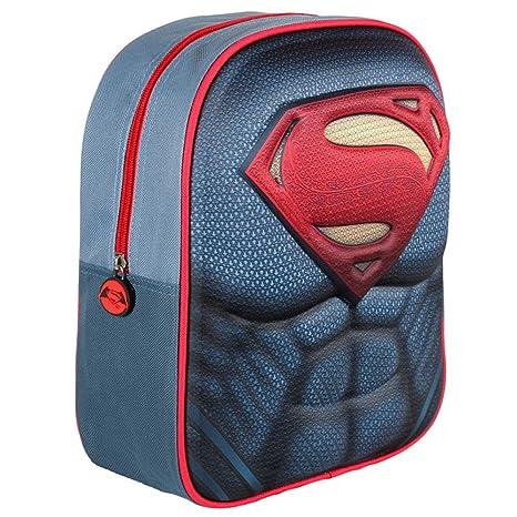 Mochila 3D Infantil de Superman DC Comic con Licencia Oficial/Mochila Infantil Niño Superman,