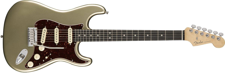 Amazon.com: Fender American Elite Stratocaster - Champagne w/Ebony Fingerboard: Musical Instruments