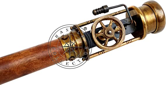 Details about  /Vintage brass retro style live steam engine model handle wooden walking stick