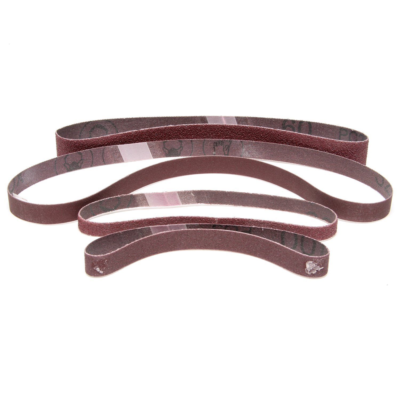3M Cloth Belt 26733 241E, 1/4'' x 24'' 60 XE-Weight, Rayon Cloth, Aluminum Oxide, Abrasive, 0.25'' Width (Pack of 200)