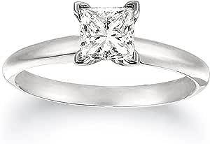 IGI Certified Platinum Princess-Cut Diamond Solitaire Engagement Ring (1 carat, G-H Color, VS2 Clarity)
