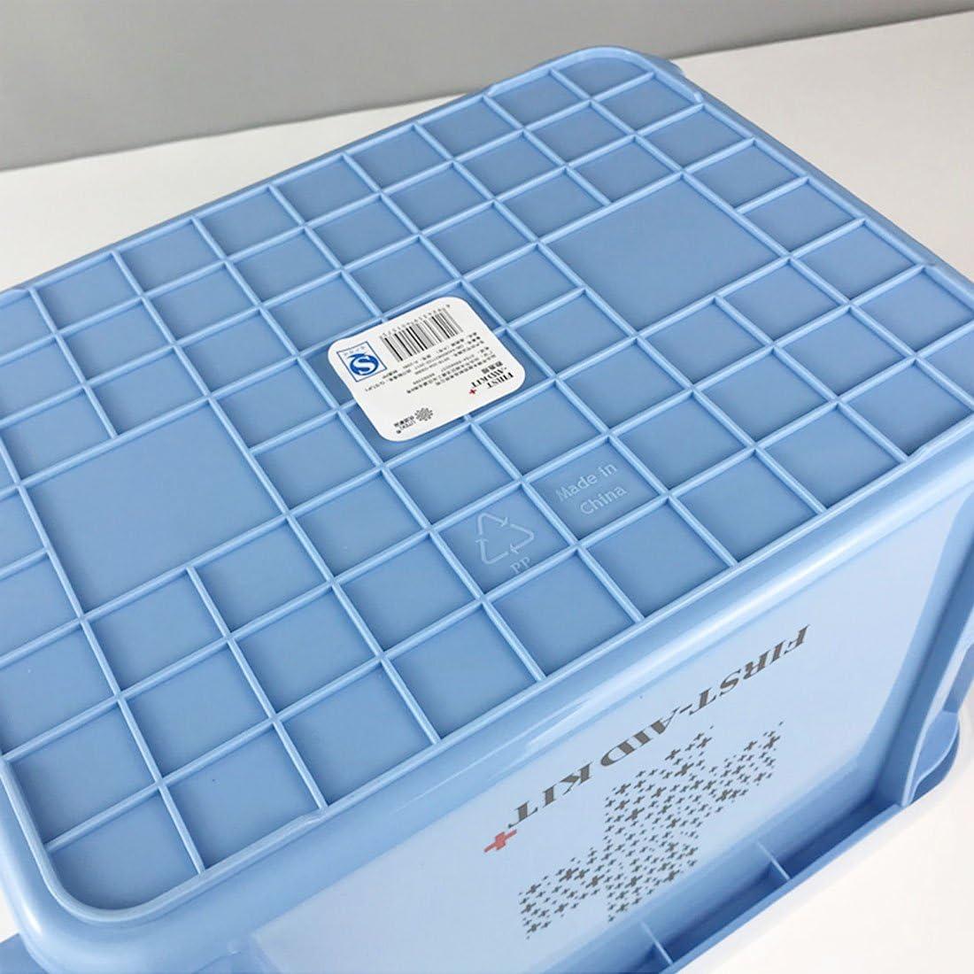26.5*18.5*14.5cm Levoberg caja de farmacia 2/capas con compartimentos caja de almacenamiento de medicamentos port/átil viaje pl/ástico azul