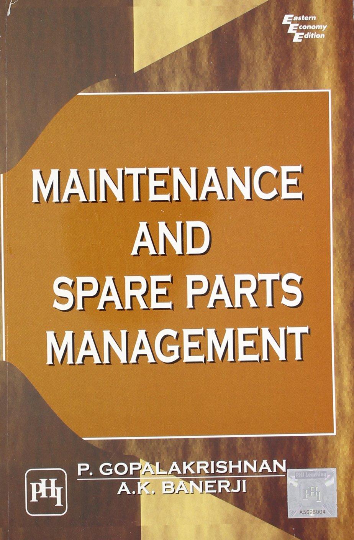 Maintenance and Spare Parts Management pdf epub