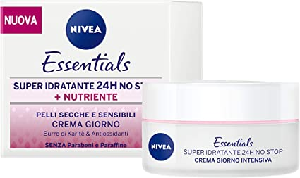 Nivea Essentials Super Idratante 24h Nutriente Crema Giorno Viso Per Pelli Secche E Sensibili 2 Confezioni Da 50 Ml Amazon It Bellezza