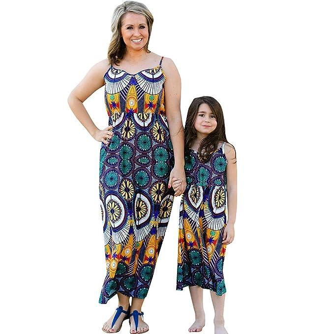 Amazon.com: EnjoCho Vestido familiar de verano para madre e ...
