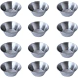 12 Polished Stainless Steel Portion Cups